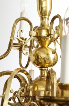 Dutch Mid Century Brass Chandelier - 1690683