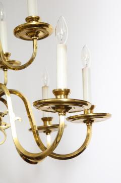 Dutch Mid Century Brass Chandelier - 1690685