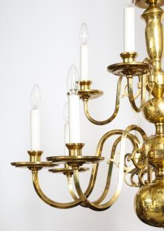 Dutch Mid Century Brass Chandelier - 1690686