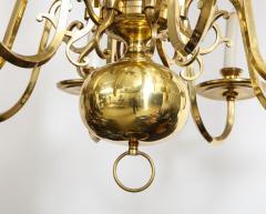 Dutch Mid Century Brass Chandelier - 1690687