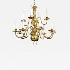 Dutch Mid Century Brass Chandelier - 1693455