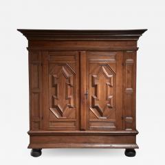 Dutch Renaissance oak cabinet 17th Century - 1491047