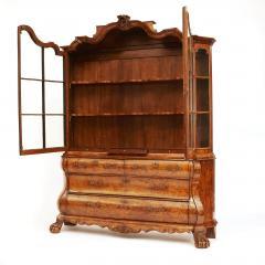Dutch Rococo Burl Walnut Bookcase Cabinet circa 1770s - 903311