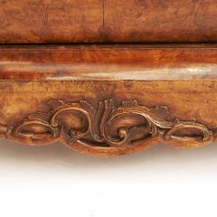 Dutch Rococo Burl Walnut Bookcase Cabinet circa 1770s - 903317