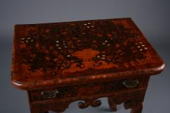 Dutch late Baroque floral Marquetry side Table Netherlands ca 1710 - 884687