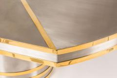 Dynamic Brushed Stainless and Brass Dining Table - 421068