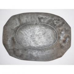 E Duchez 1900s French Art Nouveau Sculpted Pewter Dish with Fishing Putti in Relief - 1316129
