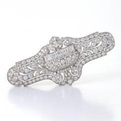 E M Gattle Co E M Gattle Co Art Deco Diamond and Platinum Brooch - 233818
