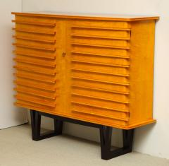 E Verot et R Clement Sycamore Wood Storage Buffet by E Verot and R Clement France c 1940 - 480724