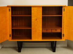 E Verot et R Clement Sycamore Wood Storage Buffet by E Verot and R Clement France c 1940 - 480725