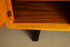 E Verot et R Clement Sycamore Wood Storage Buffet by E Verot and R Clement France c 1940 - 480737