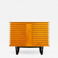 E Verot et R Clement Sycamore Wood Storage Buffet by E Verot and R Clement France c 1940 - 481307