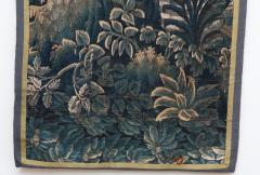 EARLY 18TH CENTURY VERDURE TAPESTRY FRAGMENT AUBUSSON - 890165