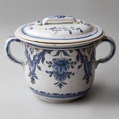 EARLY 19TH CENTURY LARGE TWO HANDLED CACHE POT IN CAMA EU BLEU ROUEN - 1791758
