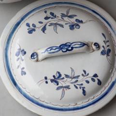 EARLY 19TH CENTURY LARGE TWO HANDLED CACHE POT IN CAMA EU BLEU ROUEN - 1791759