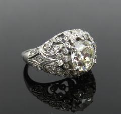EDWARDIAN PLATINUM DIAMOND ENGAGEMENT OR COCKTAIL RING - 1087631