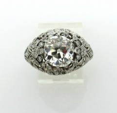 EDWARDIAN PLATINUM DIAMOND ENGAGEMENT OR COCKTAIL RING - 1087632