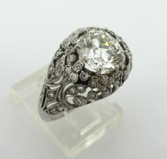 EDWARDIAN PLATINUM DIAMOND ENGAGEMENT OR COCKTAIL RING - 1087633