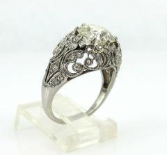 EDWARDIAN PLATINUM DIAMOND ENGAGEMENT OR COCKTAIL RING - 1087634