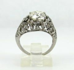 EDWARDIAN PLATINUM DIAMOND ENGAGEMENT OR COCKTAIL RING - 1087635