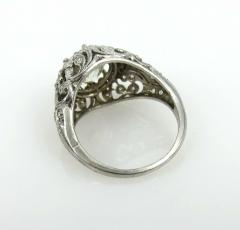 EDWARDIAN PLATINUM DIAMOND ENGAGEMENT OR COCKTAIL RING - 1087636