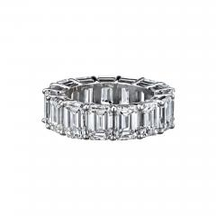 EMERALD CUT PLATINUM 15 53 CARATS DIAMOND ETERNITY BAND - 2153839