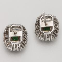 EMERALD DIAMOND 14KT WHITE GOLD EARRINGS - 1519536