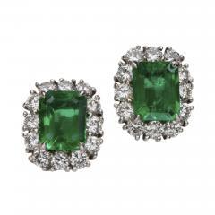 EMERALD DIAMOND 14KT WHITE GOLD EARRINGS - 1524911