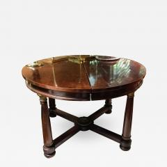 EMPIRE DINING STYLE TABLE WITH BRONZE DETAILS - 978884