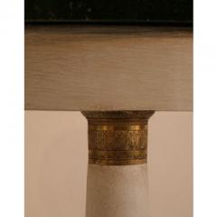 EMPIRE TRIPOD PEDESTAL TABLE WITH BLACK MARBLE TOP - 820594