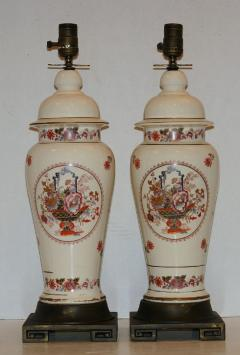 ENGLISH FLORAL CHINOISERIE TABLE LAMPS - 927314