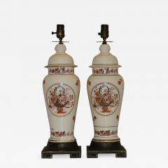 ENGLISH FLORAL CHINOISERIE TABLE LAMPS - 928271
