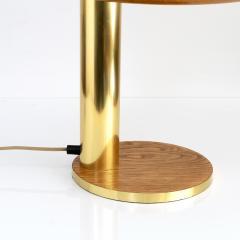 EUROPEAN MID CENTURY OAK AND BRASS DESK LAMP - 1231538