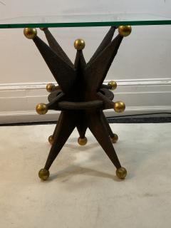 EXCEPTIONAL PAIR OF ITALIAN BRUTALIST RESIN STAR AND GOLD BALL TABLES - 1204698