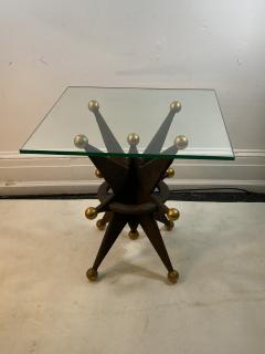 EXCEPTIONAL PAIR OF ITALIAN BRUTALIST RESIN STAR AND GOLD BALL TABLES - 1204701