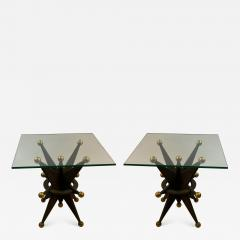 EXCEPTIONAL PAIR OF ITALIAN BRUTALIST RESIN STAR AND GOLD BALL TABLES - 1206122