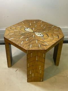 EXCEPTIONAL WOOD TABLE WITH INLAID MOTHER OF PEARL DESIGNS - 2123009