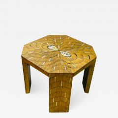 EXCEPTIONAL WOOD TABLE WITH INLAID MOTHER OF PEARL DESIGNS - 2125876