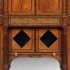 EXHIBITION QUALITY 19TH CENTURY ORMOLU MOUNTED AMBOYNA SHAPED CABINET - 1747162