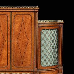 EXHIBITION QUALITY 19TH CENTURY ORMOLU MOUNTED AMBOYNA SHAPED CABINET - 1747163