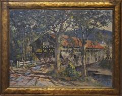 Earl A Titus Landscape Painting of a Covered Bridge signed by Earl A Titus dated 1937 - 1217599