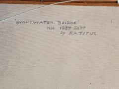 Earl A Titus Landscape Painting of a Covered Bridge signed by Earl A Titus dated 1937 - 1217600