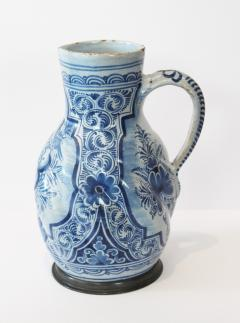 Early 18th Century German Faience Blue and White Jug Nurenberg  - 351328