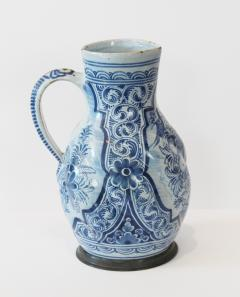 Early 18th Century German Faience Blue and White Jug Nurenberg  - 351329