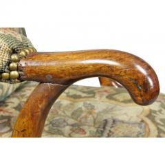 Early 18th Century Queen Anne Walnut and Needlepoint Upholstered Armchair - 1532229
