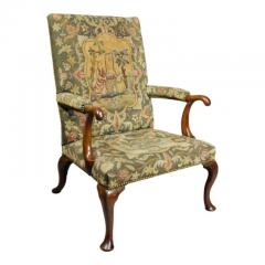 Early 18th Century Queen Anne Walnut and Needlepoint Upholstered Armchair - 1532239