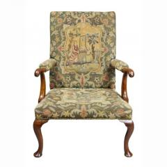 Early 18th Century Queen Anne Walnut and Needlepoint Upholstered Armchair - 1532247