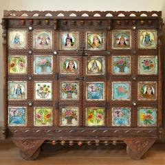 Early 1900s back painted dowry chest from Inidas Rajasthan or Gujarat region - 1561152