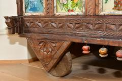 Early 1900s back painted dowry chest from Inidas Rajasthan or Gujarat region - 1561161