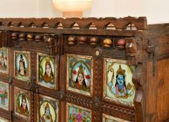 Early 1900s back painted dowry chest from Inidas Rajasthan or Gujarat region - 1561162